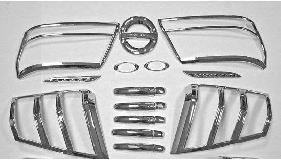 Хромированные накладки для автомобиля