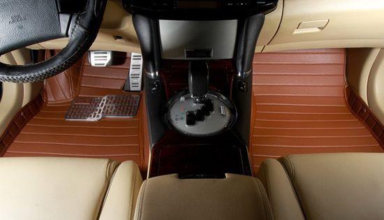 Отличные кожаные коврики в машину (КОЖА LUX 3D)