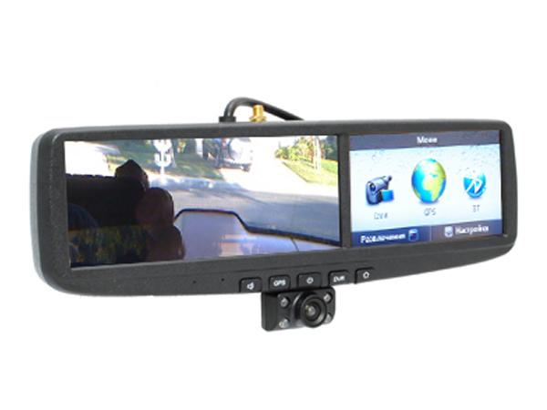 Видеорегистратор в зеркале заднего вида с gps