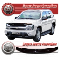 Дефлектор капота CHEVROLET TRAILBLAZER I (Шевролет-Трэйлблэйзер 1) 2002-2011 СА-ПЛАСТИК