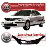 Дефлектор капота HONDA CIVIC VI (Хонда-Цивик 6) 1995-2001 СА-Пластик