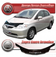 Дефлектор капота HONDA FIT ARIA (Хонда-Фит Ариа) 2002-2005 СА-ПЛАСТИК