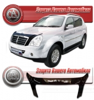 Дефлектор капота SSANGYONG REXTON II (СангЁнг-Рекстон 2) 2006- СА-ПЛАСТИК exclusive